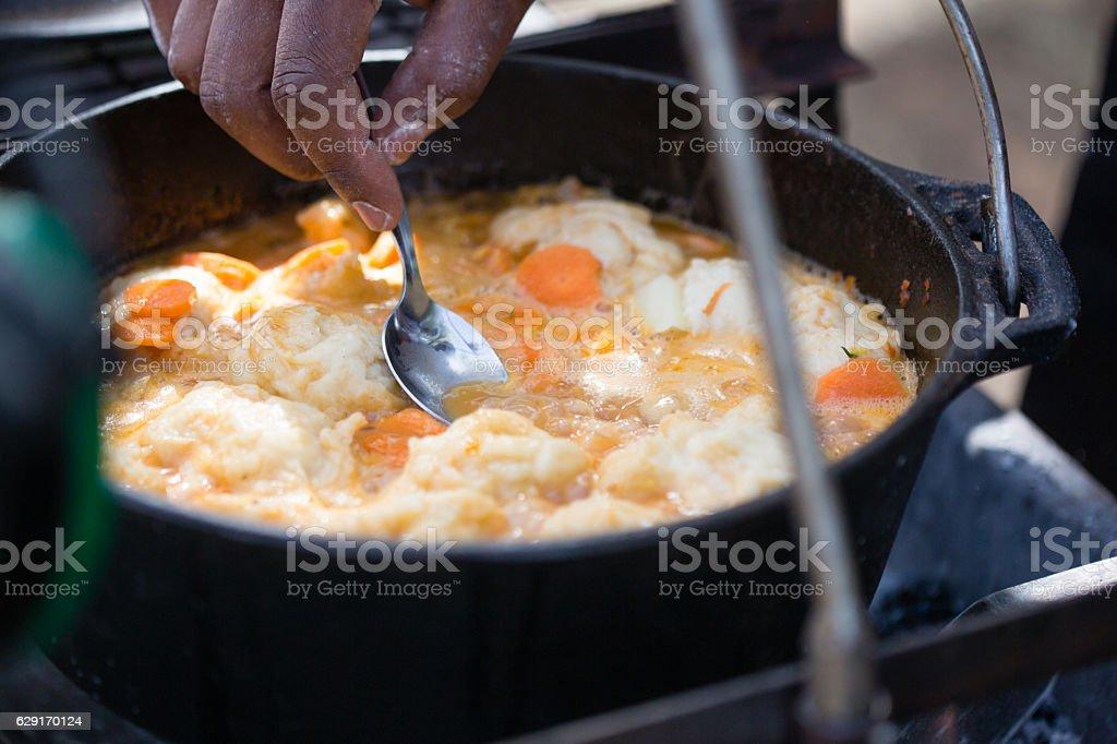 Cooking Dumplings stock photo