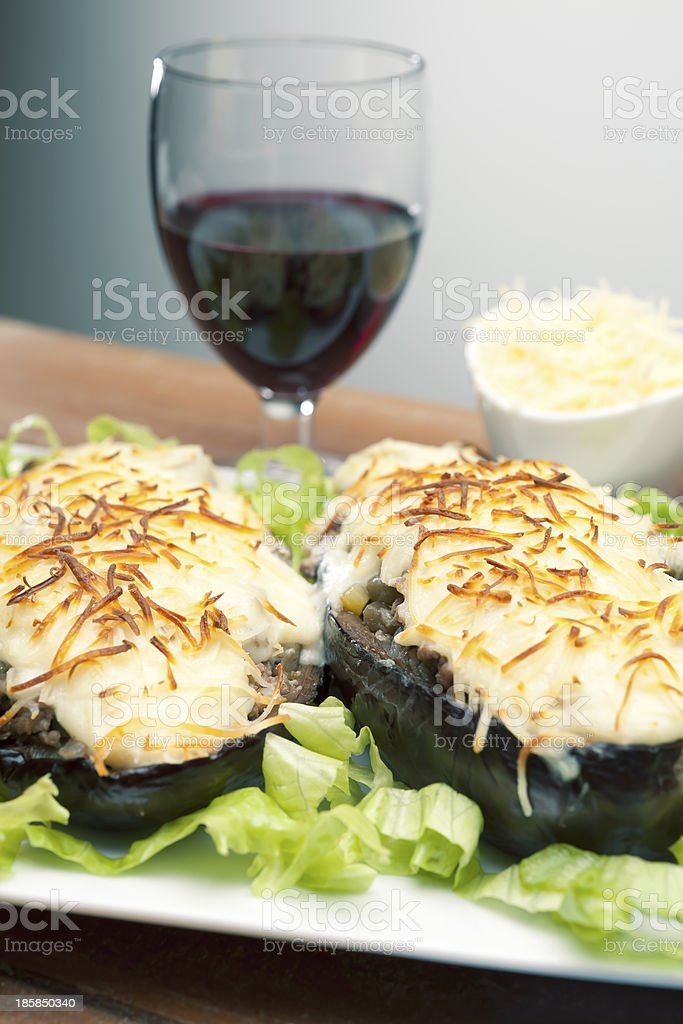 cooking eggplant royalty-free stock photo