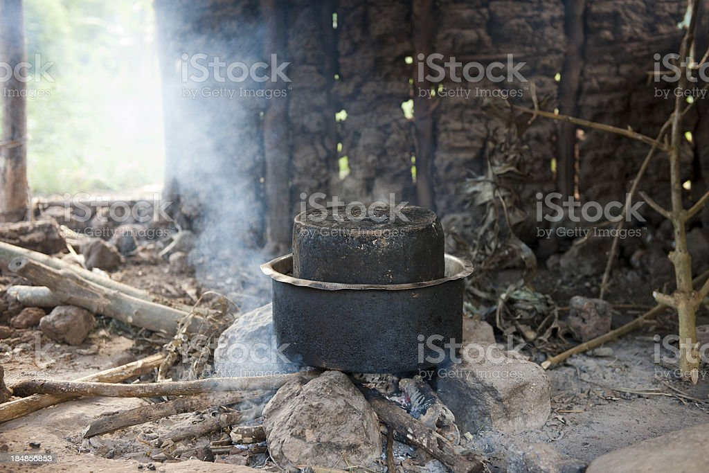 Cooking equipement in africa stock photo