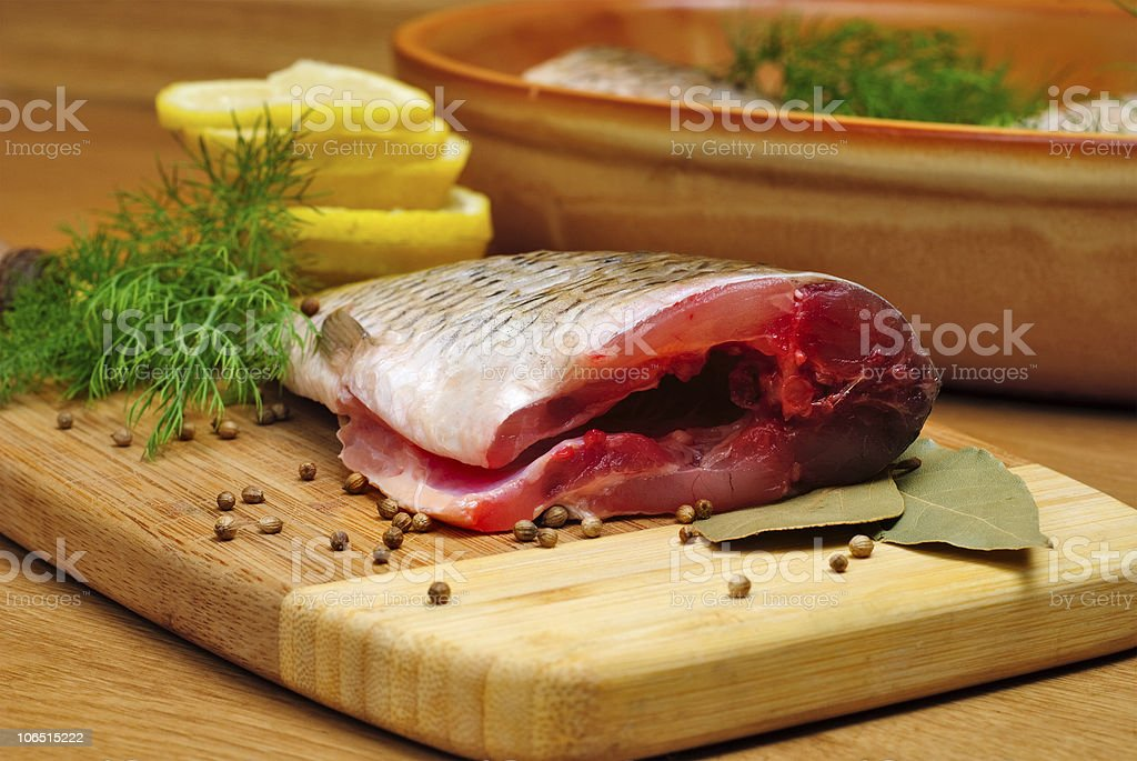 Cooking fish royalty-free stock photo
