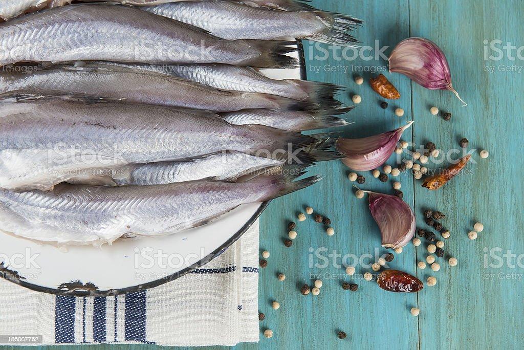 Pratos de peixe - foto de acervo