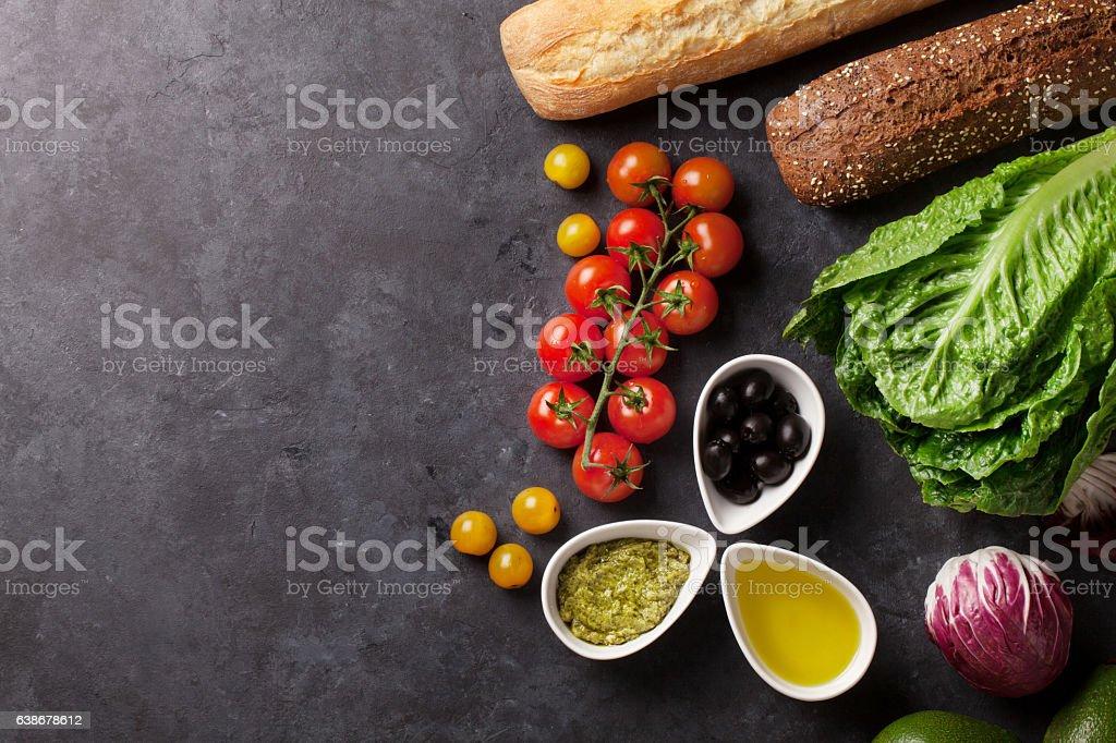 Cooking food ingredients stock photo