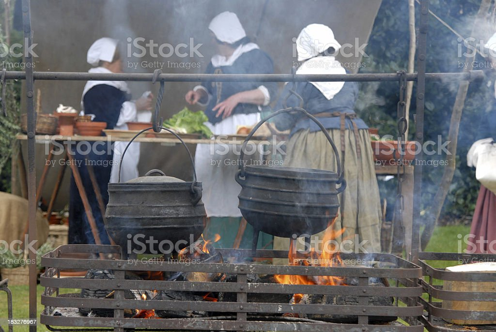 Cooking for the troops royalty-free stock photo