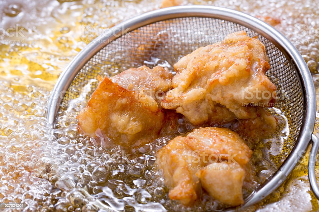 Cooking fried chicken fried foto de stock royalty-free