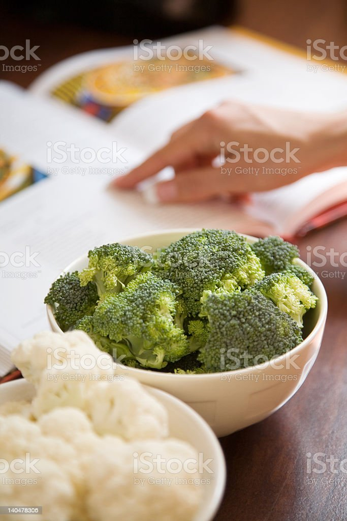 Cooking healthy food royalty-free stock photo