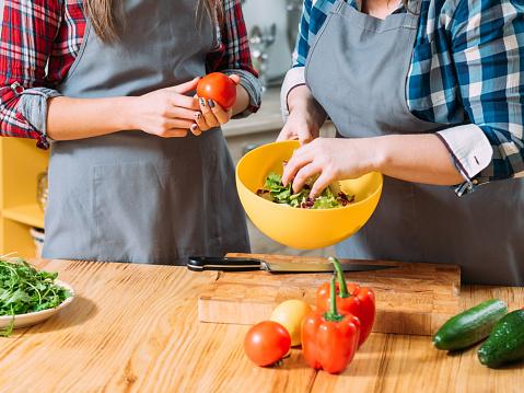 cooking hobby women salad healthy vegetarian diet