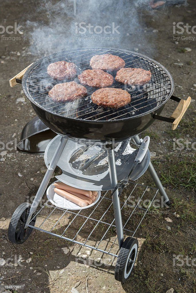 Cooking in camp royalty-free stock photo