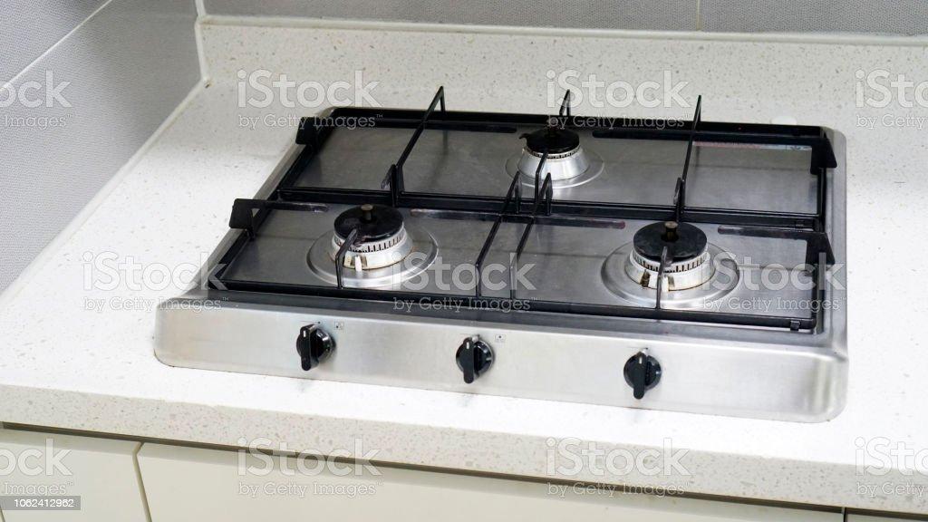 Kochen In Der Küche Den Gasherd Stockfoto und mehr Bilder ...