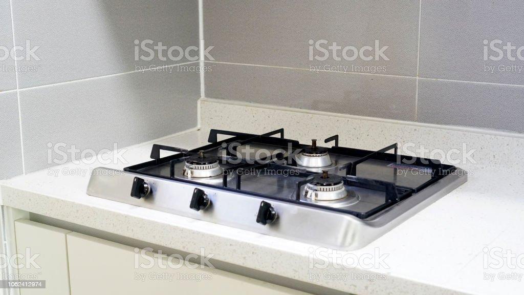 Kochen In Der Küche Den Gasherd Stockfoto und mehr Bilder von ...