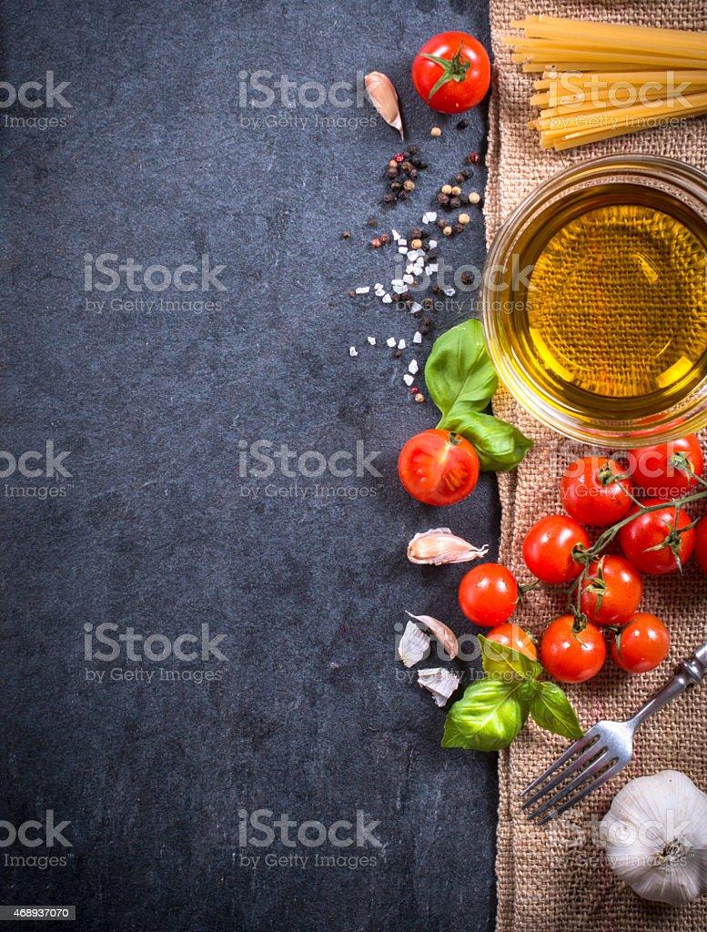 Cooking ingredients stock photo