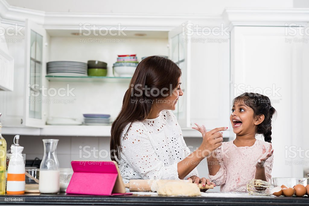 Cooking is fun stock photo