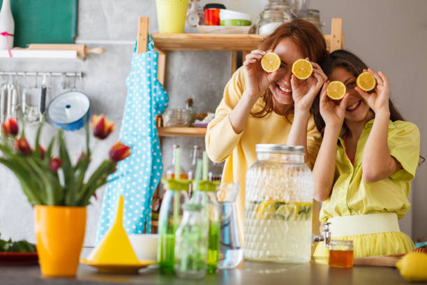 Cooking is funny stock photo