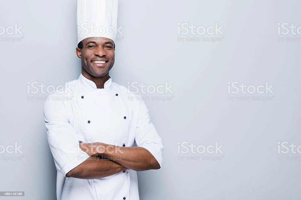 Cooking is my passion. stock photo
