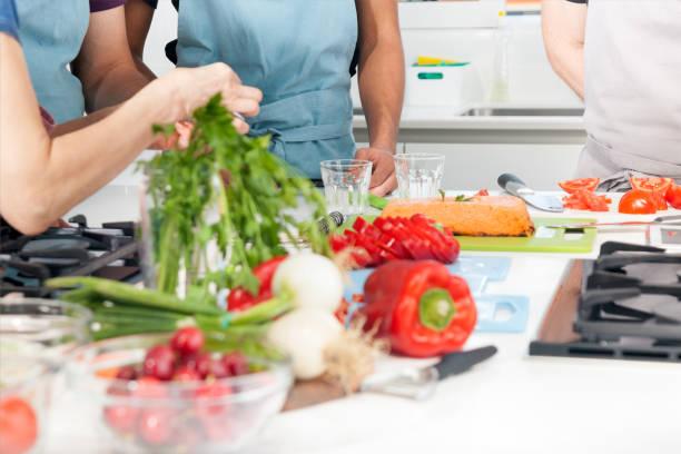 Cours de cuisine, groupe - Photo