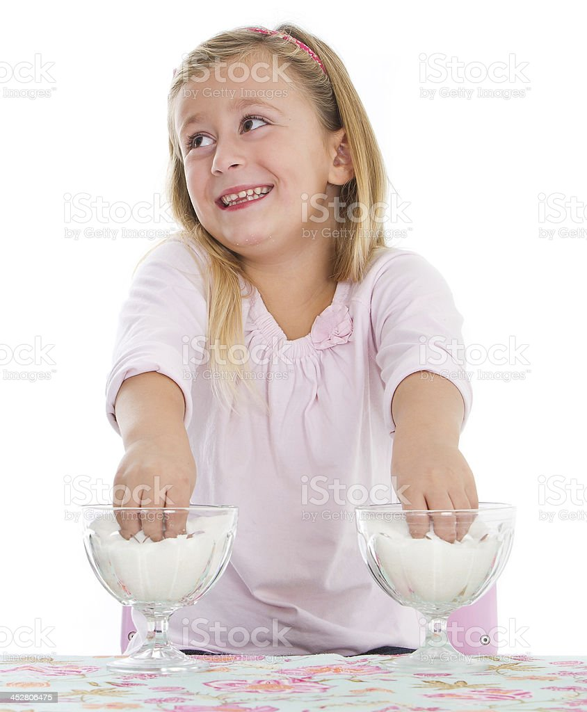 Cooking little girl royalty-free stock photo