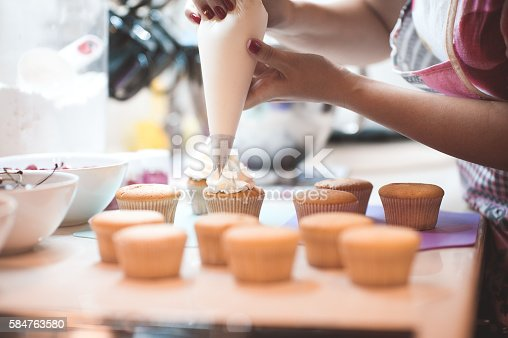 istock Cooking muffins closeup 584763580