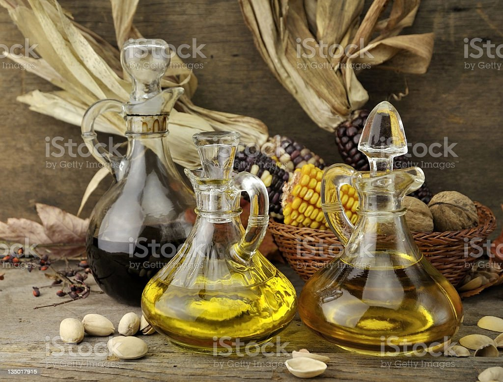 Cooking Oil And Vinegar stock photo