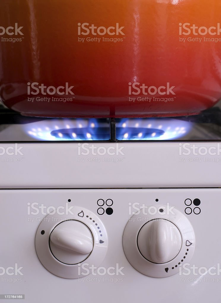Cooking on Gas royalty-free stock photo