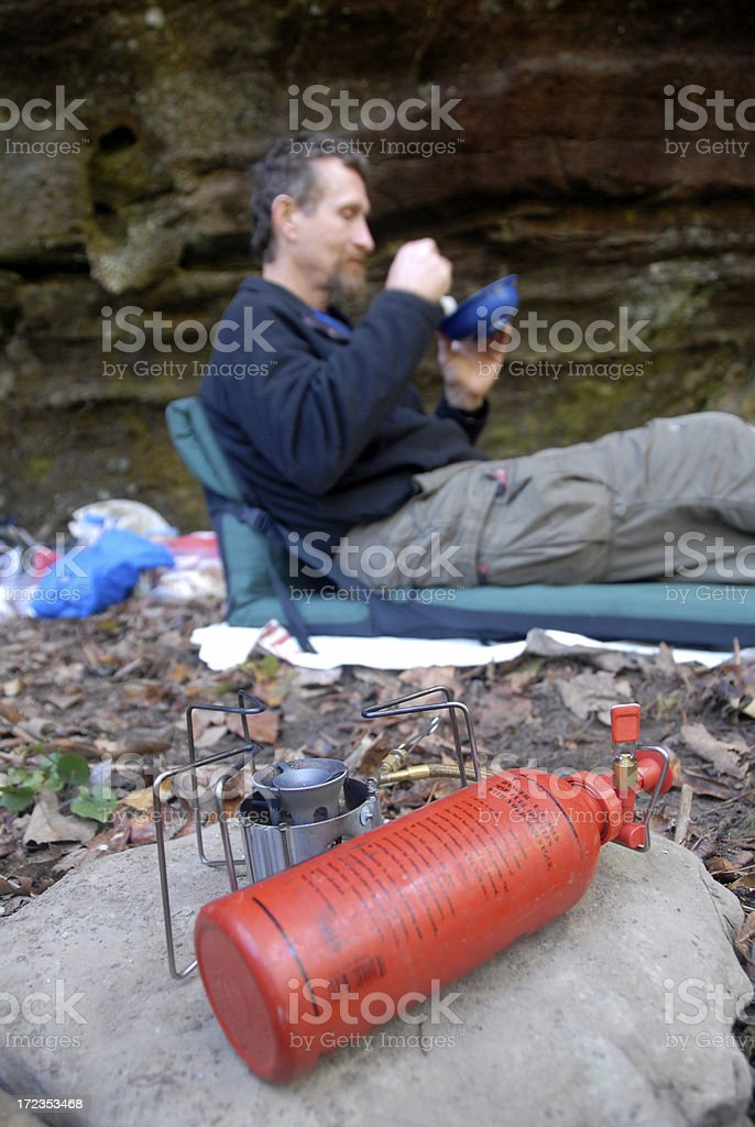 Cooking on the Trail royalty-free stock photo