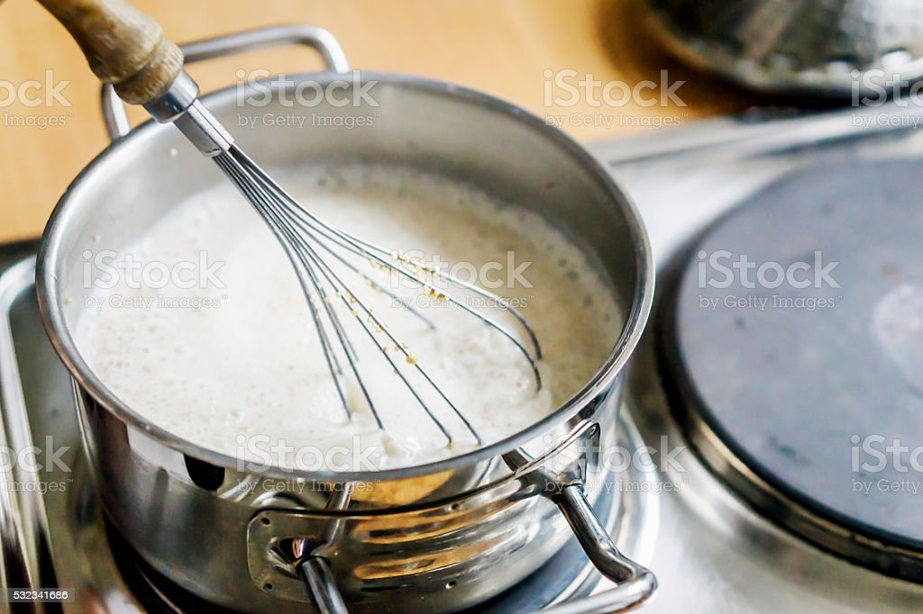 Cooking Pampe stock photo