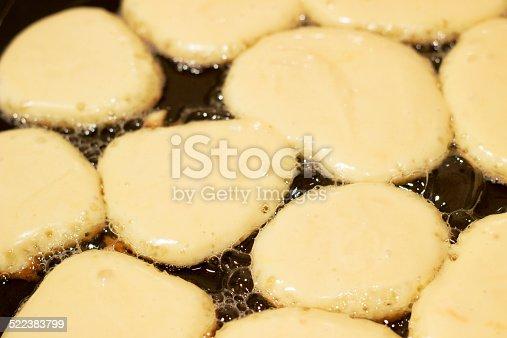 istock Cooking pancakes. 522383799