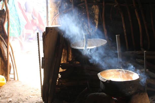 Cooking Pot in Dassanech Village stock photo
