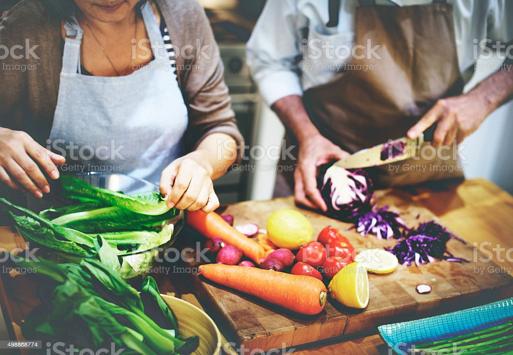 Cooking Preparing Food Ingredient Vegetarian Concept stock photo