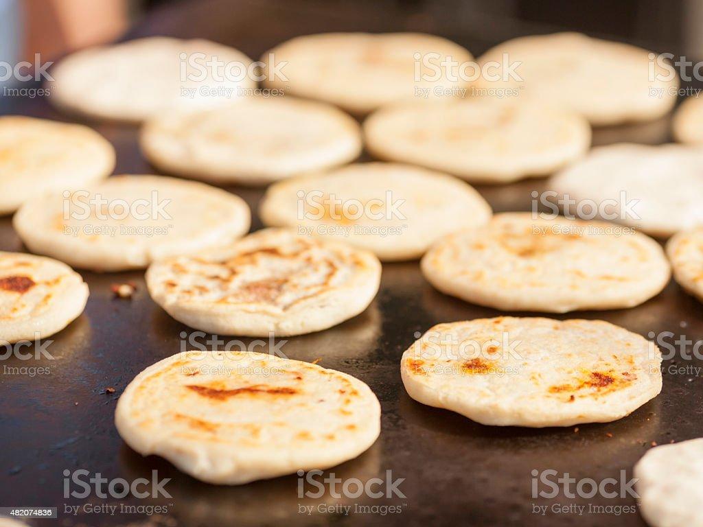 Cooking Pupusas stock photo