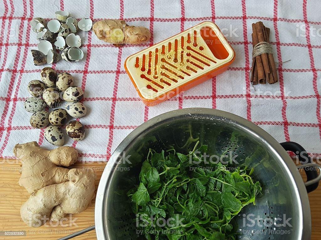 Кулинарные qoutweed Имбирный торт, органические питание стоковое фото