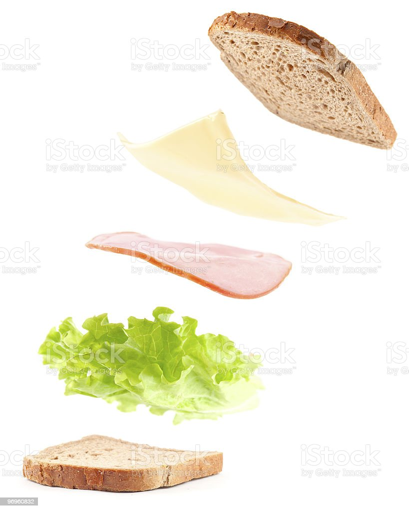 cooking sandwich stock photo