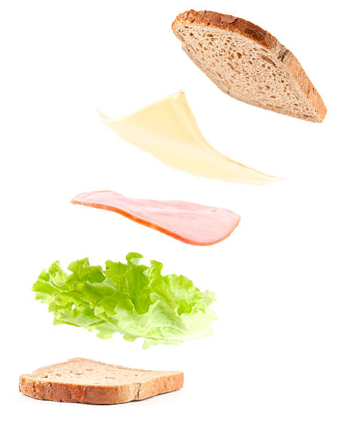 cooking sandwich - cheese sandwich bildbanksfoton och bilder
