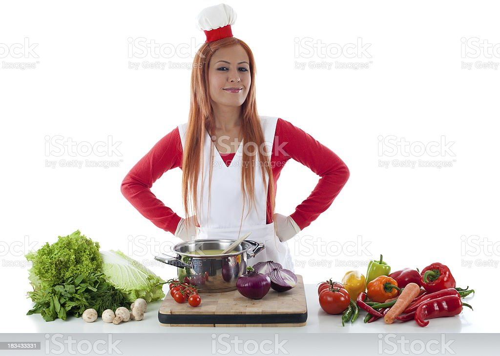 Cooking series stock photo