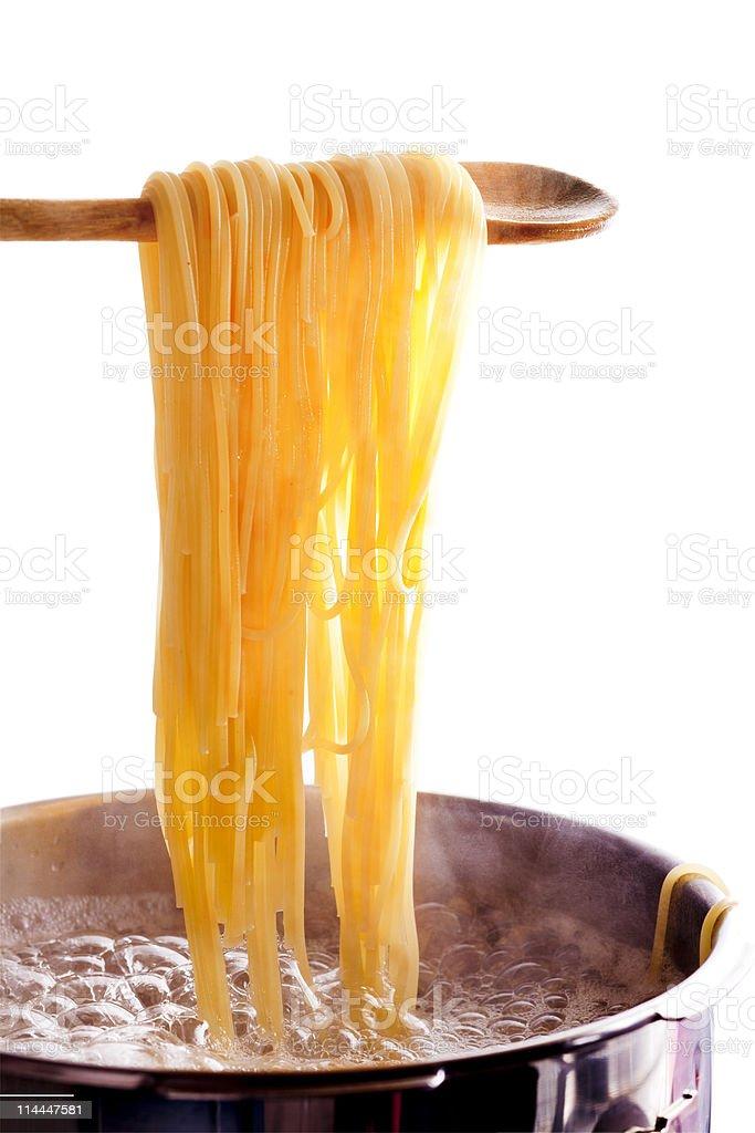 cooking spaghetti royalty-free stock photo