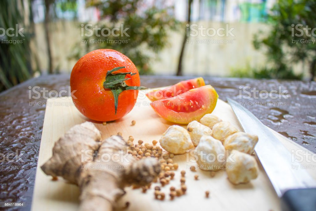 Cooking Spices, Vegetables, Indonesian Food | Asian Food royalty-free stock photo