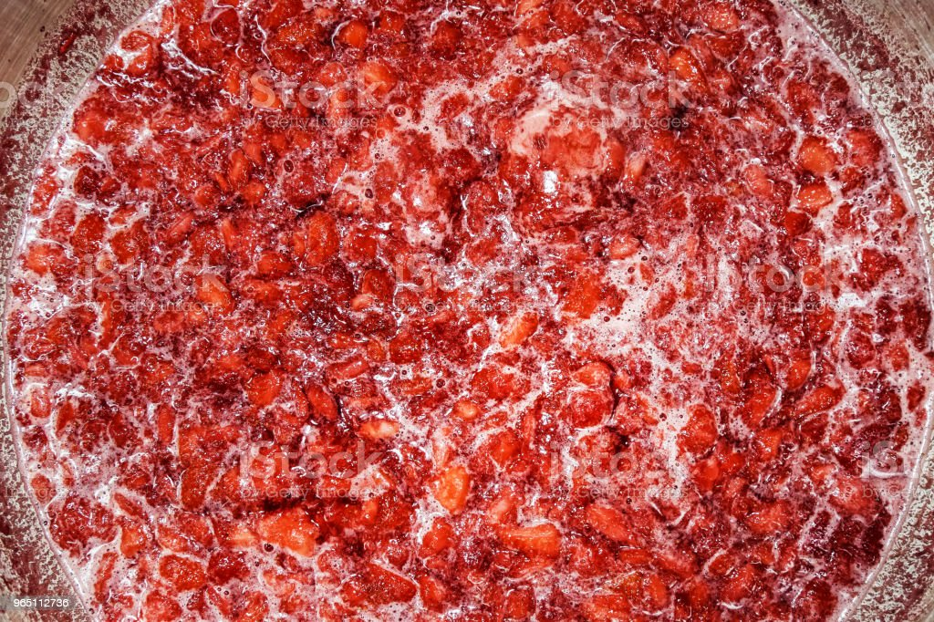Cooking Strawberry Jam zbiór zdjęć royalty-free
