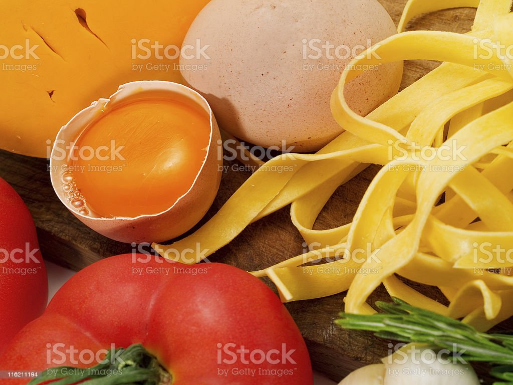 Cooking Tagliatelle royalty-free stock photo