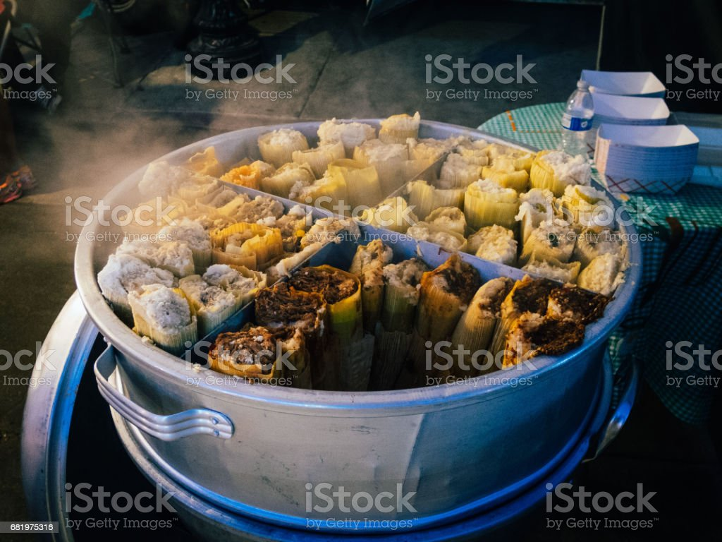 Cooking Tamales stock photo