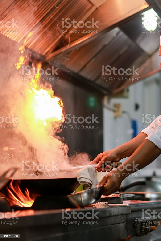 cooking technique stock photo