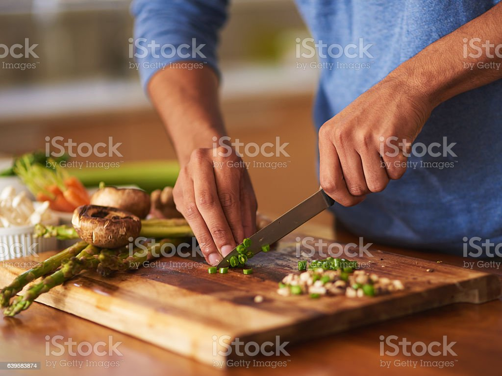 Cooking that's a cut above the rest stock photo