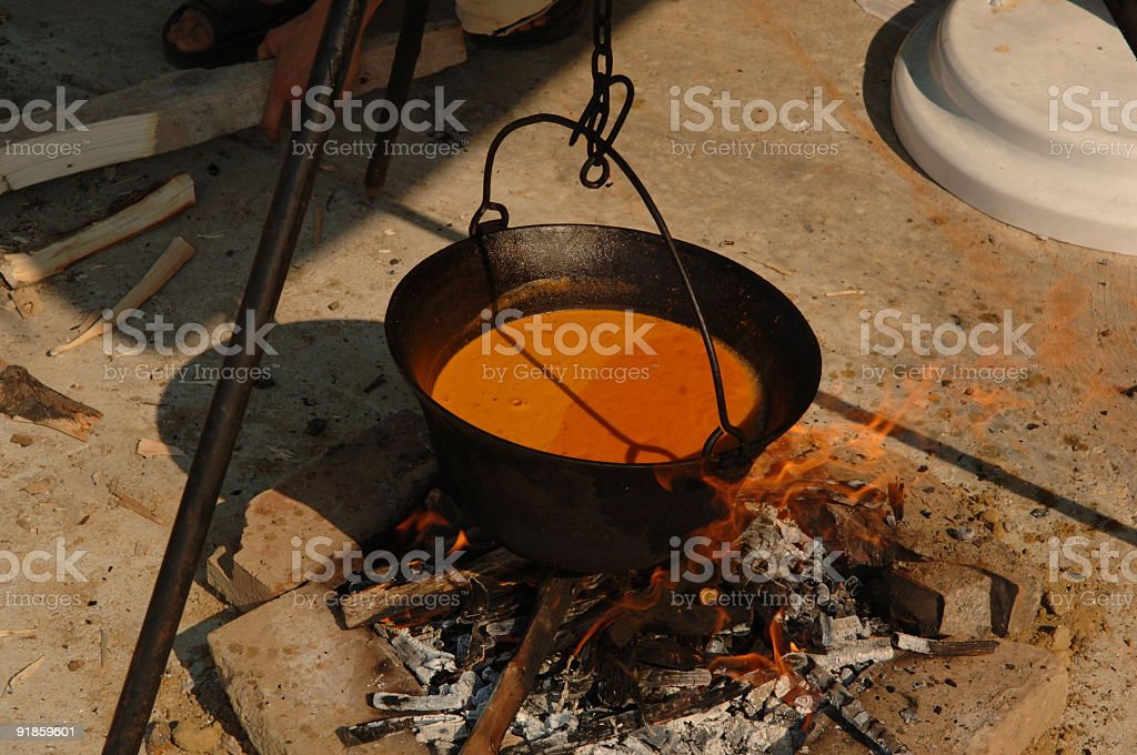 cooking the fish soup royalty-free stock photo