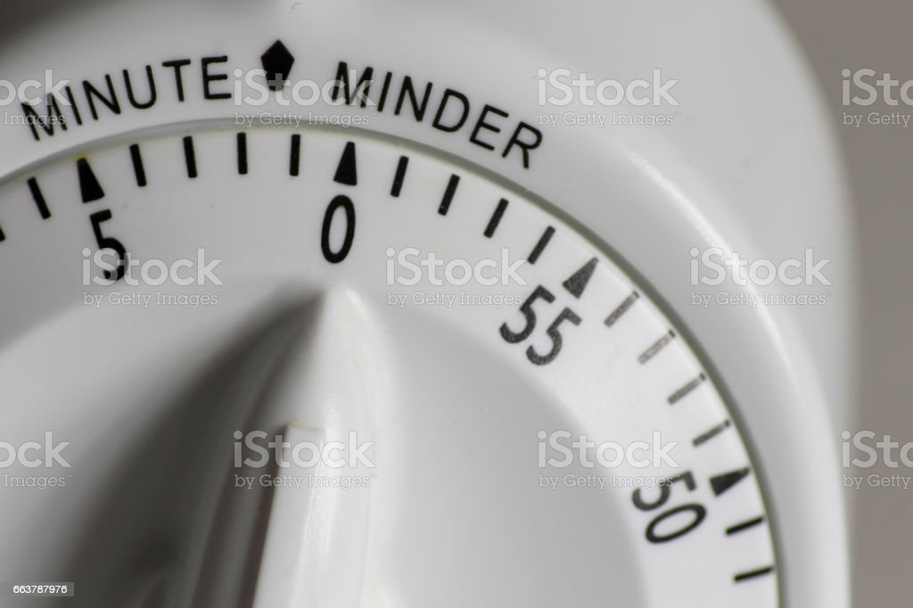 Cooking Timer Macro stock photo