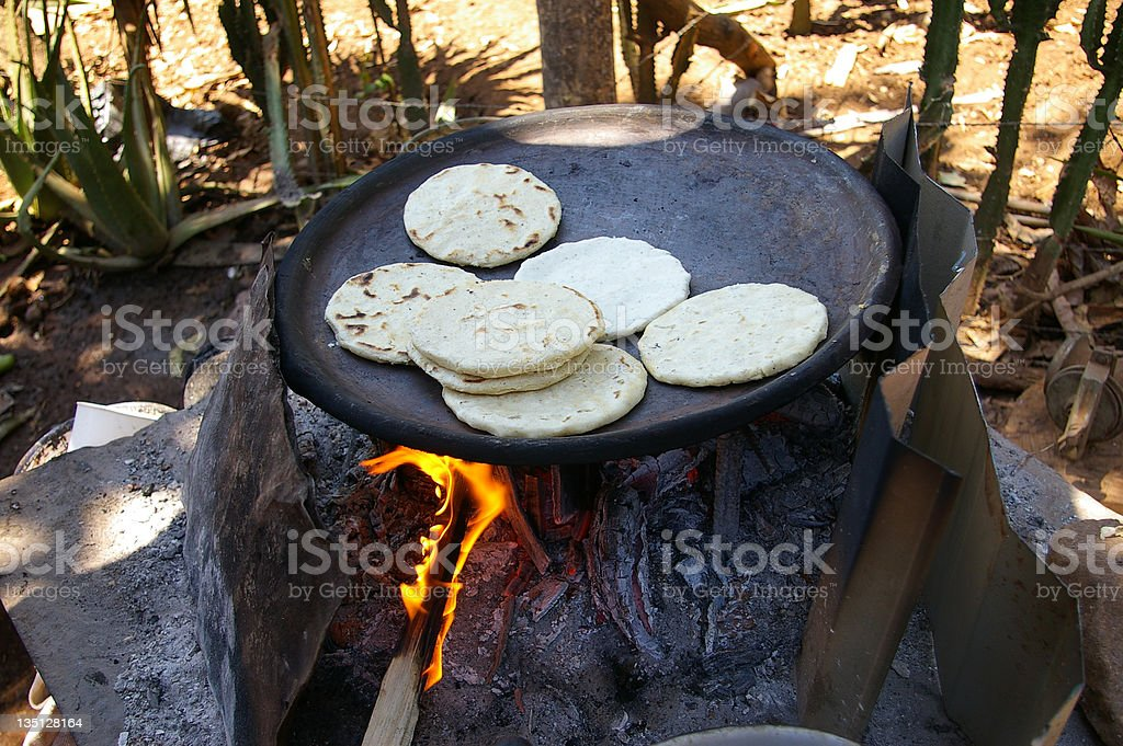 Cooking Tortillas royalty-free stock photo