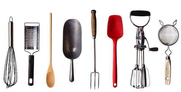 cooking utensils border - keukengereedschap stockfoto's en -beelden