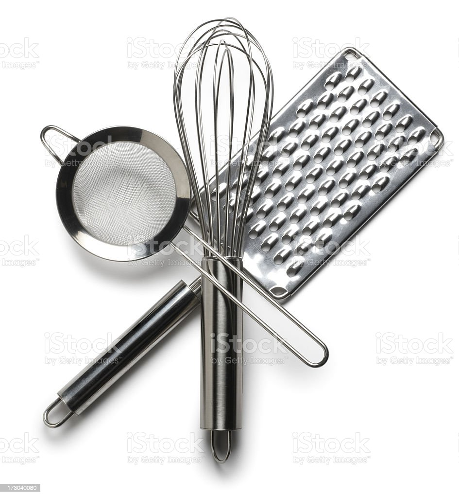 Cooking utensils on white background royalty-free stock photo