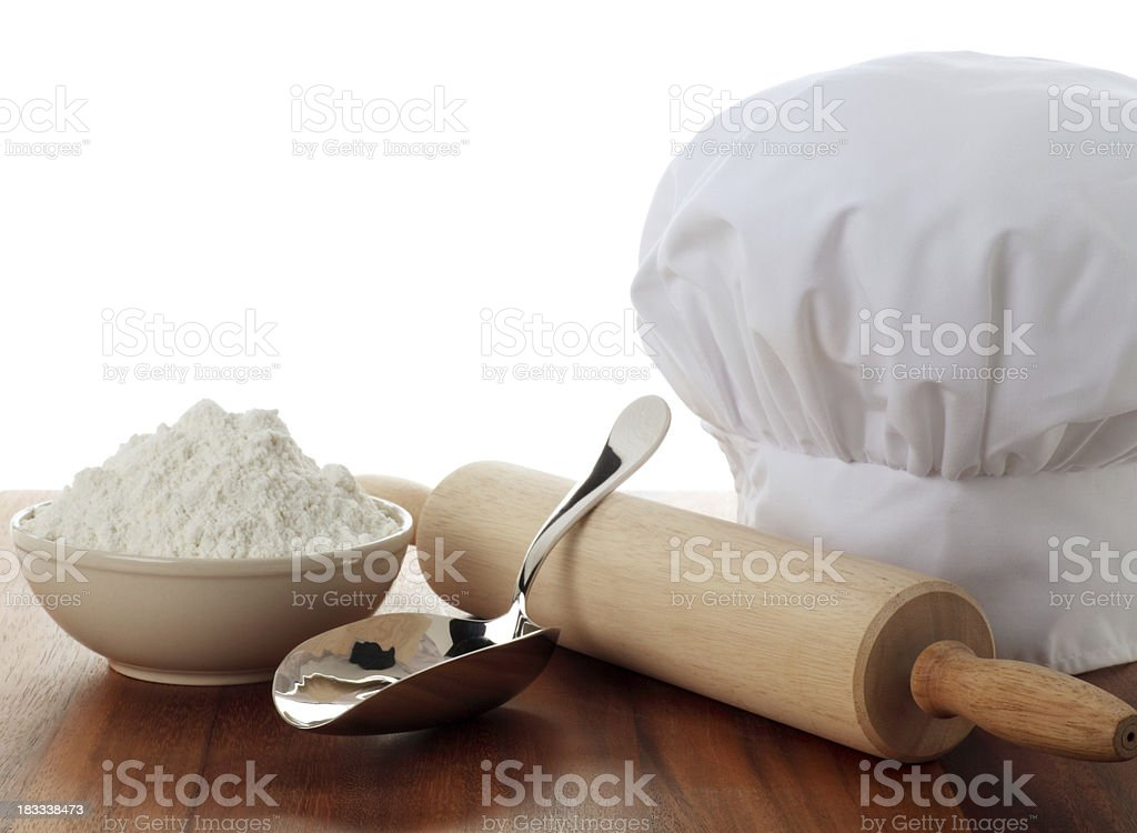 Cooking Utensils on White royalty-free stock photo