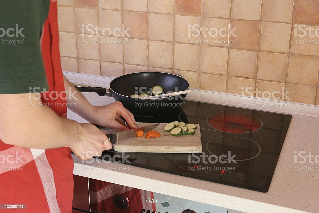 Cooking vegetables royalty-free stock photo