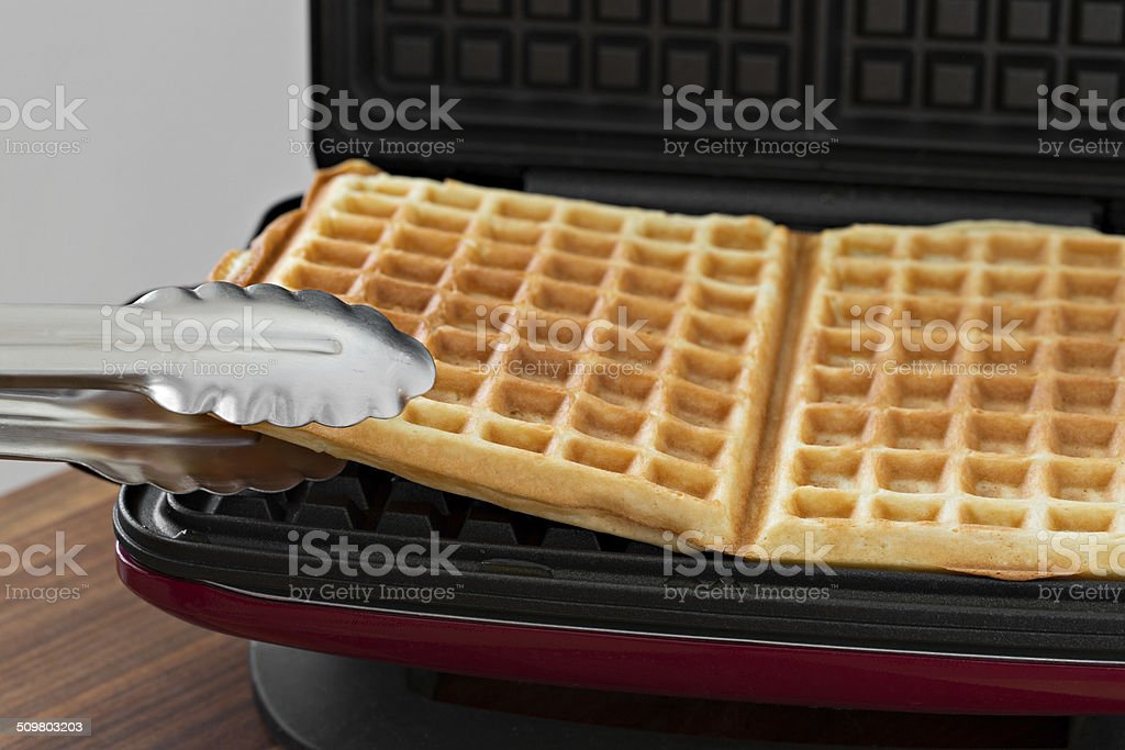 Cooking Waffles stock photo