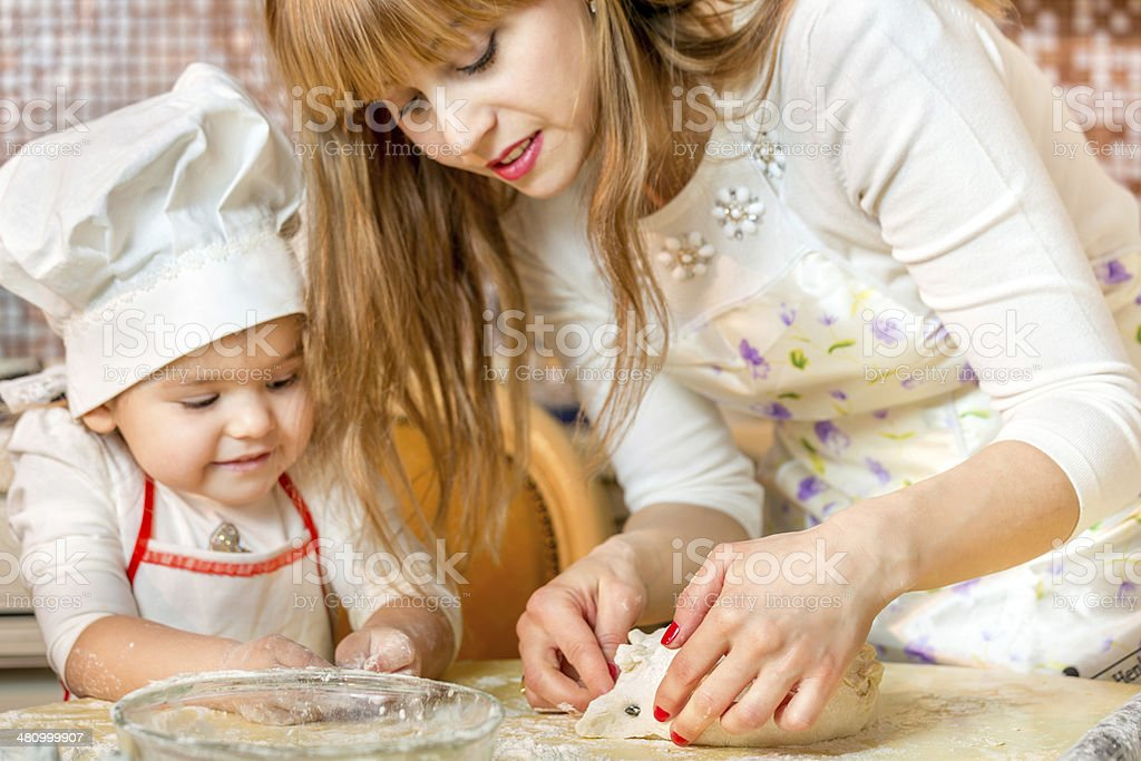 Cooking with mommy royalty-free stock photo