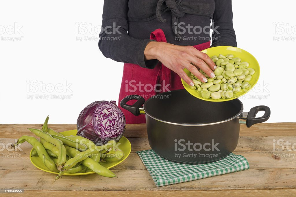 Cooking with vegetables royalty-free stock photo
