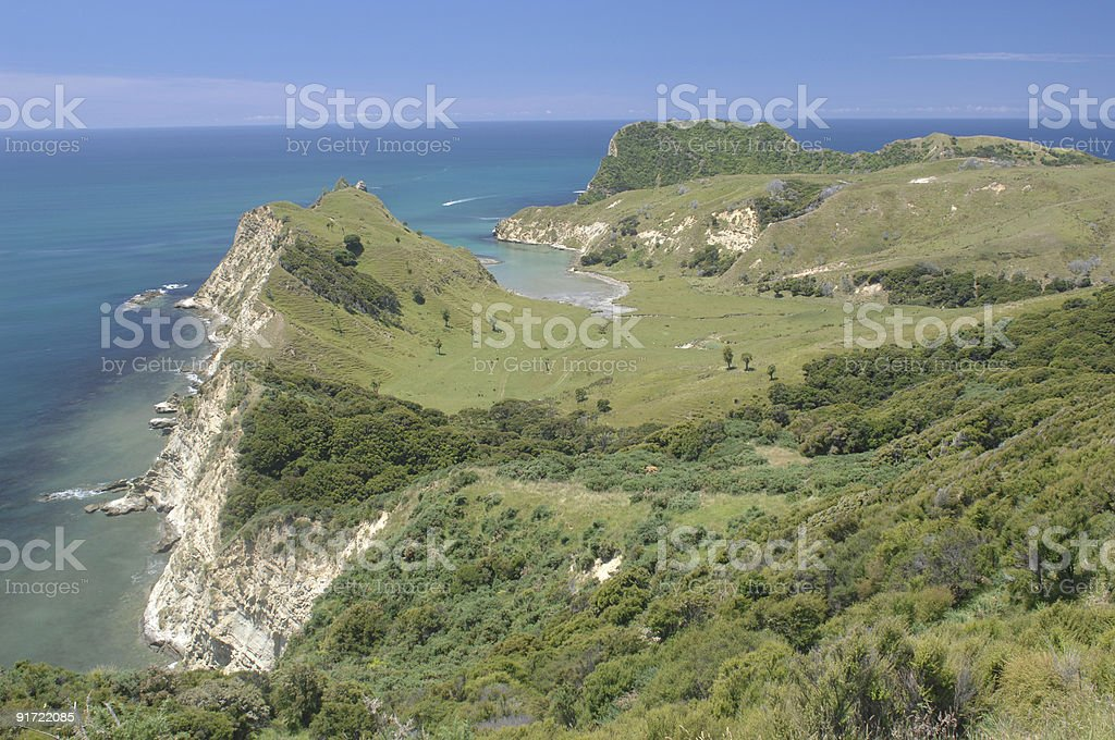Cook's Landing, Tolaga Bay, New Zealand stock photo